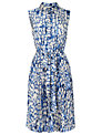 L.K. Bennett Snake Print Shirt Dress, Blue