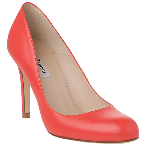 Buy L.K. Bennett Shilo Leather Stiletto Heel Court Shoes, Red Online at johnlewis.com