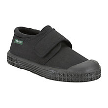 Buy Clarks Long Jump Plimsolls, Black Online at johnlewis.com