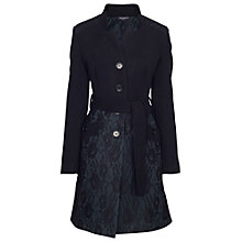 Buy James Lakeland Lace Coat, Black/Green Online at johnlewis.com