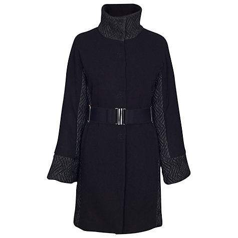 Buy James Lakeland Quilt Insert Contrasting Coat, Black Online at johnlewis.com