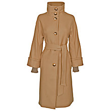 Buy James Lakeland Wool Cuff Coat, Camel Online at johnlewis.com