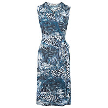 Buy L.K. Bennett Gigi Sleeveless Gathered Dress, Blue Online at johnlewis.com