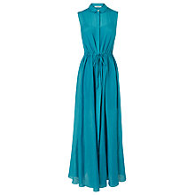 Buy L.K. Bennett Kerrie Maxi Shirt Dress, Dark Turquoise Online at johnlewis.com