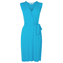 Buy L.K. Bennett Gigi Sleeveless Gathered Dress, Soft Aqua Online at johnlewis.com