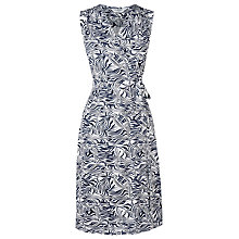 Buy L.K. Bennett Gigi Sleeveless Gathered Dress, White/Black Online at johnlewis.com
