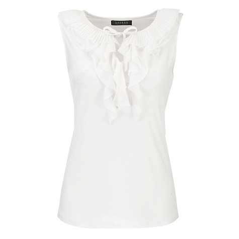 Buy Lauren by Ralph Lauren Woven Ruffle Top Online at johnlewis.com