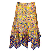 Buy Lauren by Ralph Lauren Printed Tiered Skirt, Yellow Multi Online at johnlewis.com