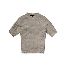 Buy Tommy Hilfiger Girls' Estelle Batwing Jumper, Grey Online at johnlewis.com