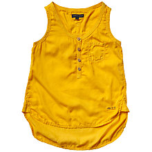 Buy Tommy Hilfiger Girls' Janet Sleeveless Top, Yellow Online at johnlewis.com