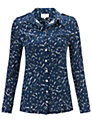 Buy allegra by Allegra Hicks Phoebe Shirt, Navy, 8 Online at johnlewis.com