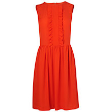 Buy Boutique by Jaeger Molly Frill Silk Dress, Orange Online at johnlewis.com