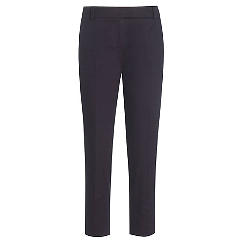 Buy Boutique by Jaeger Louisa Twill Trousers, Navy Online at johnlewis.com