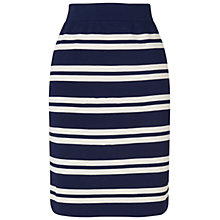Buy Boutique by Jaeger Striped Pencil Skirt, Navy Online at johnlewis.com