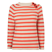 Buy Boutique by Jaeger Garter Stitch Stripe Jumper, Multi Online at johnlewis.com