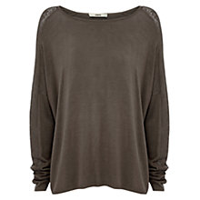 Buy Oasis Pointelle Shoulder Jumper Online at johnlewis.com