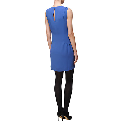 Buy Jaeger London Gathered Panel Dress, Bright Blue Online at johnlewis.com