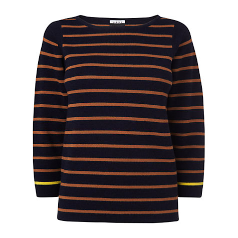 Buy Jaeger London Breton Striped Jumper, Navy Online at johnlewis.com