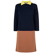 Buy Jaeger London Colour Block Dress, Navy Online at johnlewis.com