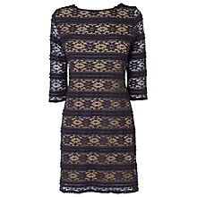 Buy Phase Eight Guilia Lace Tunic Dress, Navy/Latte Online at johnlewis.com