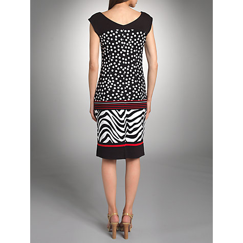 Buy Betty Barclay Spot Zebra Stripe Dress, Black/White Online at johnlewis.com