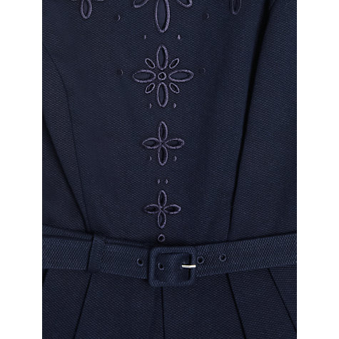 Buy L.K. Bennett Livia Embroidery Dress, Navy Online at johnlewis.com