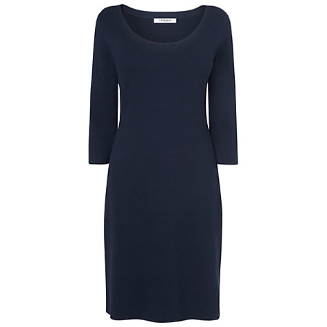 Buy L.K. Bennet Mellie Knitted Dress, Navy Online at johnlewis.com
