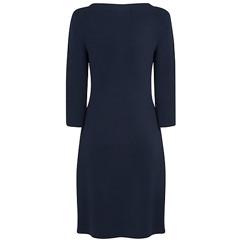 Buy L.K. Bennett Mellie Knitted Dress, Navy Online at johnlewis.com