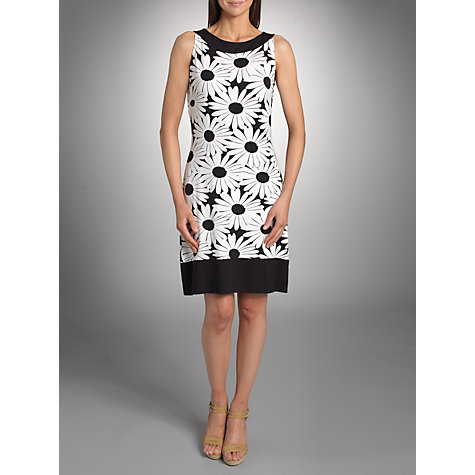 Buy Betty Barclay Daisy Print Dress, White/Black Online at johnlewis.com