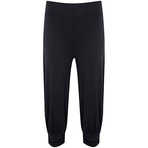 Buy Manuka Awakening Relaxed Fit Capri Pants, Black Online at johnlewis.com