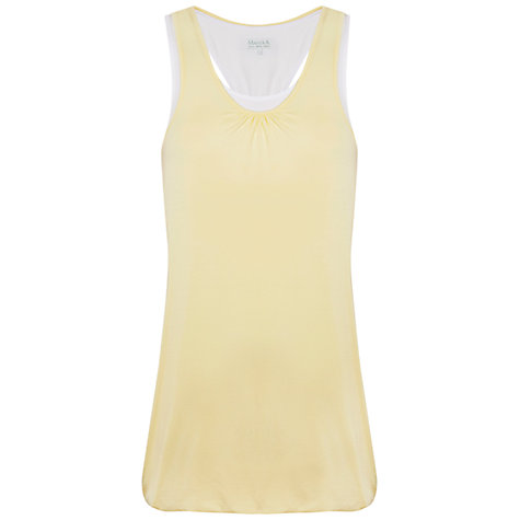 Buy Manuka Relaxed Fit Layered Vest, Yellow Online at johnlewis.com