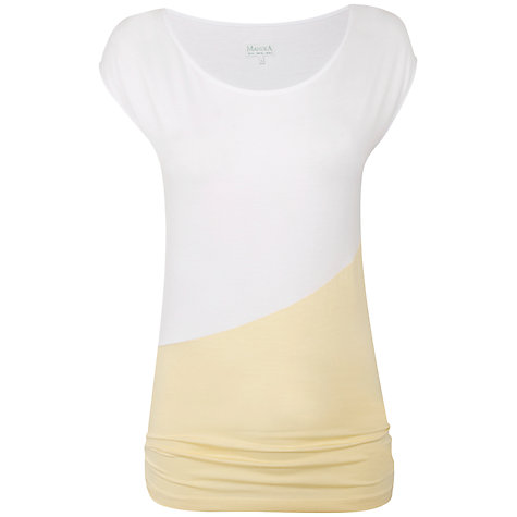Buy Manuka Pleated Cover Up Top, White/Yellow Online at johnlewis.com