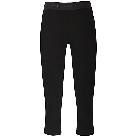 Buy Manuka Yoga Capri Pants, Black Online at johnlewis.com