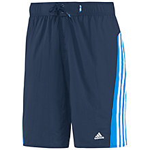 Buy Adidas 3 Stripe Block Colour Swim Shorts Online at johnlewis.com