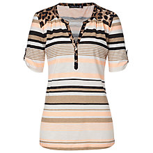Buy Betty Barclay Stripe T-Shirt, Nature/Orange Online at johnlewis.com