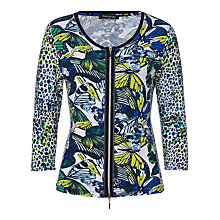 Buy Betty Barclay Butterfly Print Cardigan, White/Blue Online at johnlewis.com