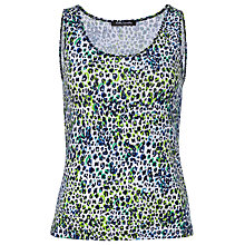 Buy Betty Barclay Animal Print Vest Top, White/Blue Online at johnlewis.com