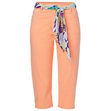 Buy Betty Barclay Cropped Jeans, Neon Peach Online at johnlewis.com