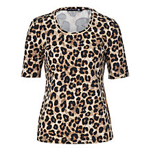 Buy Betty Barclay Animal Print T-Shirt, Black/Camel Online at johnlewis.com