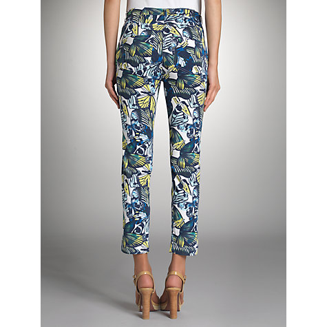 Buy Betty Barclay Butterfly Print Trousers, White/Blue Online at johnlewis.com