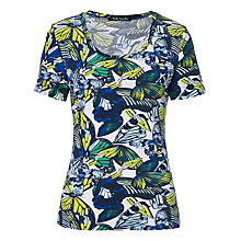 Buy Betty Barclay Butterfly Print T-Shirt, White/Blue Online at johnlewis.com