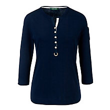 Buy Lauren by Ralph Lauren 3/4 Sleeve Henley Top Online at johnlewis.com