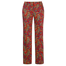 Buy Lauren by Ralph Lauren Slim Printed Trousers, Red Multi Online at johnlewis.com