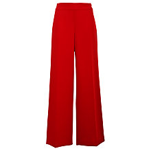 Buy Lauren by Ralph Lauren Wide Leg Trousers, Cherry Red Online at johnlewis.com
