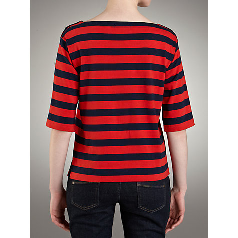 Buy Lauren by Ralph Lauren Striped Button Shoulder Jumper Online at johnlewis.com