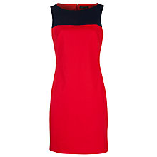 Buy Lauren by Ralph Lauren Colour Block Boat Neck Shift Dress, Cherry Red/Navy Online at johnlewis.com