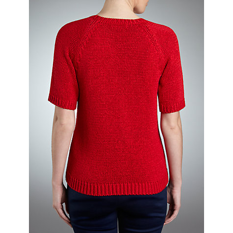 Buy Lauren by Ralph Lauren Raglan Sleeve V-Neck Jumper, Cherry Red Online at johnlewis.com