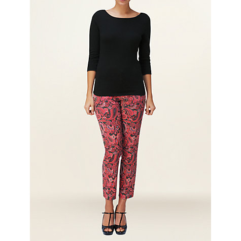 Buy Phase Eight Ally Paisley Trousers, Raspberry Online at johnlewis.com