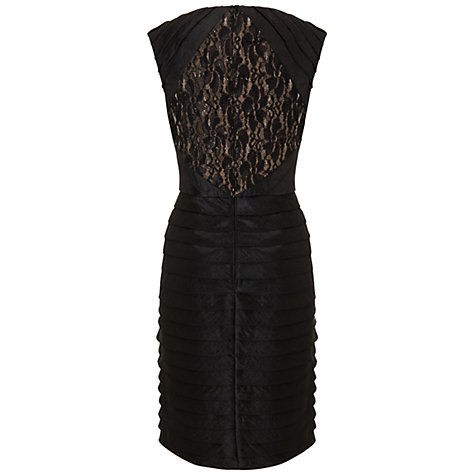 Buy Adrianna Papell Lace Shimmer Dress, Black Online at johnlewis.com