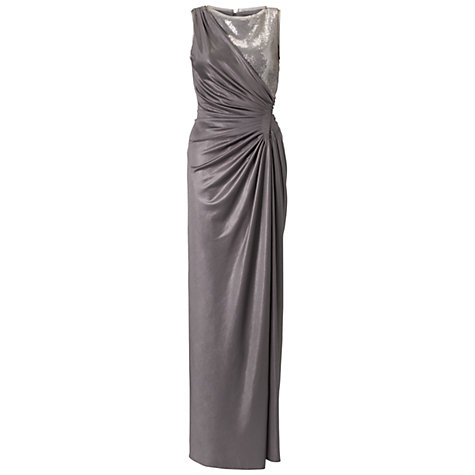 Buy Adrianna Papell Glazed Jersey Dress, Champagne Online at johnlewis.com